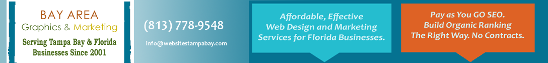 Tampa Web Design and Marketing, Bay Area Graphics and Marketing